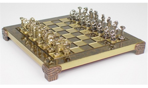 SmallArchersBrassChessSetBoardPackage-Brown